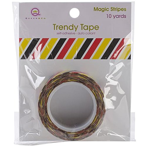 Co Mag Stripe - Queen & Co Magic Trendy Tape, 15mm by 10-Yard, Stripes