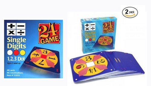 - 24 Game Two Pack: Includes 48 Single Digit Cards and 48 Double Digit Cards and Exclusive Tips Sheet!