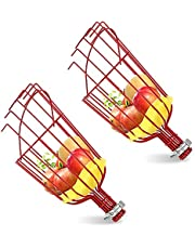 MINBB Fruit Picker Tool, Harvester Basket with Cushion, Light-Weight Fruit Pickers, Labor-Saving Picking Equipment for Getting Fruits Apple, Pear, Peach, Oranges