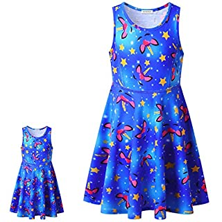 Girl Sleeveless Unicorn Matching Doll Dress with Pocket 18in Doll Summer Outfit