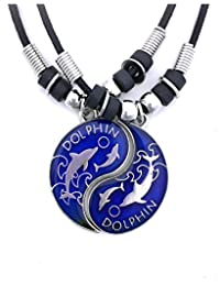 Tapp Collections™ Dolphin Yin Yang 2 Mood Pendant Necklaces Set