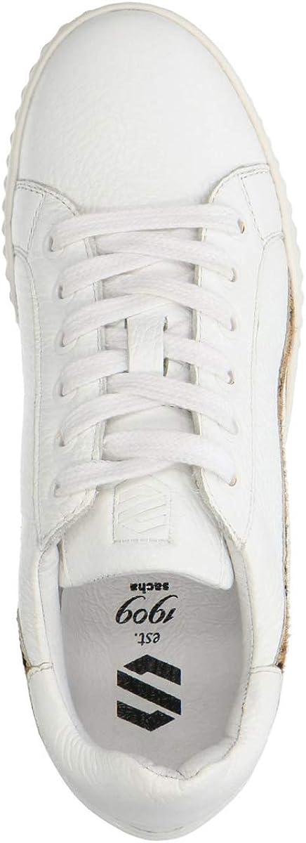 Weiße Sneaker mit Animalprint Weiß