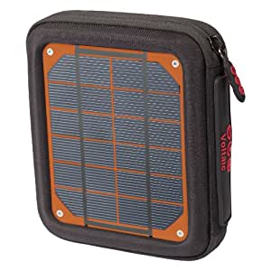 """Voltaic Systems """"Amp"""" 4.0W Portable Solar Charger and 4000mAh USB Battery Backup Bank for iPhone, iPad, Samsung Galaxy, Android, and USB Devices - 1018-O"""