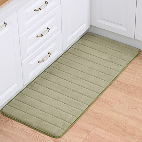 thick memory foam pad Bathroom water-absorbing anti-skidding mat Lobby entrance mats Strips in the kitchen floor mats-D 80x120cm(31x47inch)
