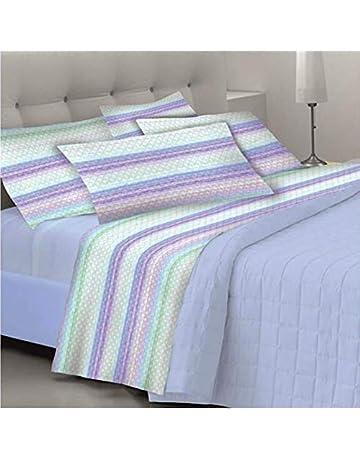 Goldenhome - Juego completo de sábanas matrimoniales formado por: 2 fundas de almohada +