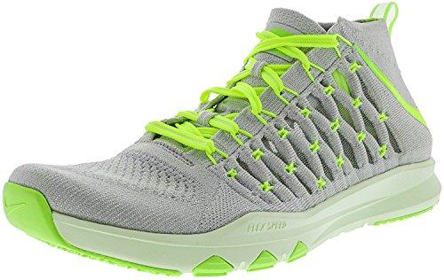 Nike Tåg Ultra Flyknit Mens Crosstraining Skor Ren Platina / Volt - Ghost Grön - Volt Nyans