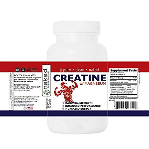 Creatine monohydrate Doctor Formulated with Magnesium and Proprietary Enzyme Blend 2 Pack 180 count
