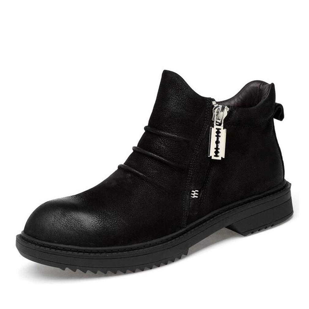 Hy Hy Hy Herren Formelle Schuhe, Herbst Winter Retro Retro Stiefelies, Slip-Ons Werkzeug Stiefel, Komfort Fahren Schuhe Trekking Reise Schuhe (Farbe   Schwarz, Größe   44) 7f64d2
