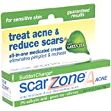 Sudden Change Scar ZoneA Acne Treatment & Scar Diminishing Cream with Green Tea for Sensitive Skin, .5 oz.