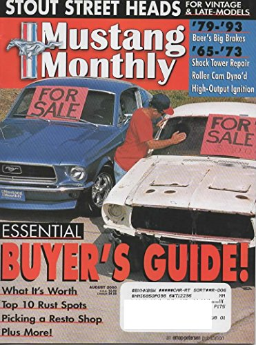 Mustang Monthly Magazine, August 2000 (Vol. 23, No. 8)
