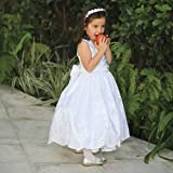 Angels Garment White Embroidered Bow Easter Dress Toddler Girls 2T