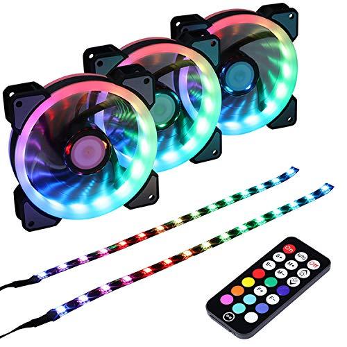 Ventilador 1400RPM 120mm LED Addressable RGB Case Fan with C