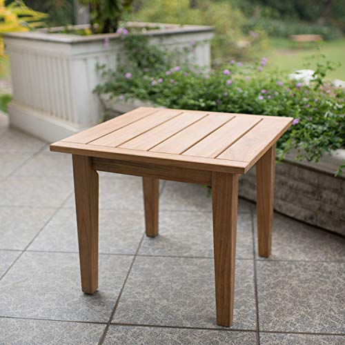 Table Dining Set Teak (Cambridge-Casual AMZ-180633T Andrea Teak Side Table, Natural)