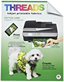 THREADS TXIT100620 Inkjet Printable Fabric Sheets, 8.5''x11'' 6/Pkg