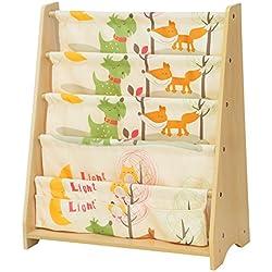 SONGMICS Children's Bookcase Rack Sling Book Shelf 5-Tier Book Shelf Multicolor UGKR71YL