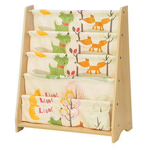 SONGMICS Children's Bookcase Rack Sling Book Shelf 5-Tier Book Shelf Multicolor UGKR71YL by SONGMICS