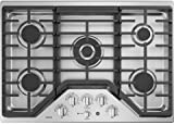 GE Cafe CGP9530SLSS 30 Inch Natural Gas Sealed Burner Style Cooktop with 5 Burners in Stainless Steel
