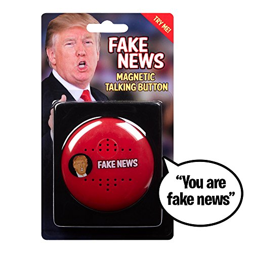 YOU ARE FAKE NEWS Talking Trump Button - Says 7 Fake News Lines in Donald Trump 's Real Voice - Push Button Whenever You Hear Fake News - Perfect for Office - Funny Gift for Democrat or Republican by OUR FRIENDLY FOREST