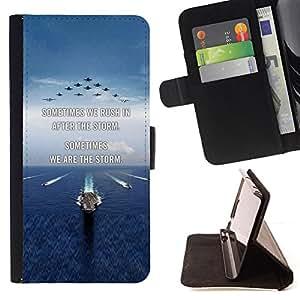 BullDog Case - FOR/Samsung Galaxy S4 IV I9500 / - / I love you moon text sunset beach ocean /- Monedero de cuero de la PU Llevar cubierta de la caja con el ID Credit Card Slots Flip funda de cuer
