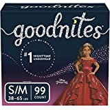 Goodnites Bedwetting Underwear for Girls, Small/Medium(38-65 lb.), 99 Ct, Stock Up Pack (Packaging May Vary)