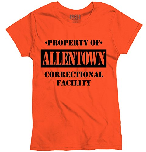 Brisco Brands Womens Graphic Tee Shirts Property of Allentown, PA Prison The New Black Novelty
