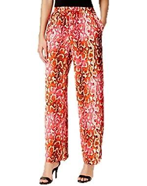Calvin Klein Drawstring-Waist Wide-Leg Pants