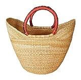 Large Yikene Shopper - Ghana Bolga Basket - Dye-Free #32001
