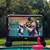 VIVOHOME 17ft Indoor and Outdoor Inflatable Blow up Mega Movie Projection Screen