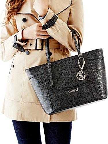 Borsa Da spalla Donna Guess Mod. Delaney GE453522 Col. Nero o Bianco. Black (Schwarz)