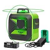 Huepar laser level Self-Leveling 2x360-Degree, lithium battery ,Cross Line Laser Level with Pulse