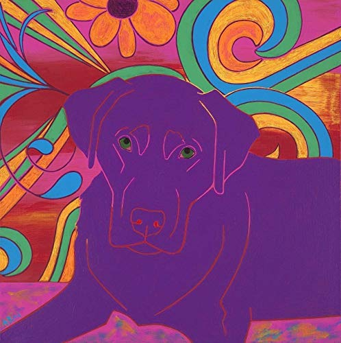Coaster Chocolate - Chocolate Love, Labrador Tile Coaster, Dog Pop Art by Angela Bond Art