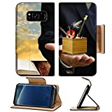 Liili Premium Samsung Galaxy S8 Flip Pu Leather Wallet Case Music college examination concept Music instrument box in the teacher hand Photo 18152118 Simple Snap Carrying