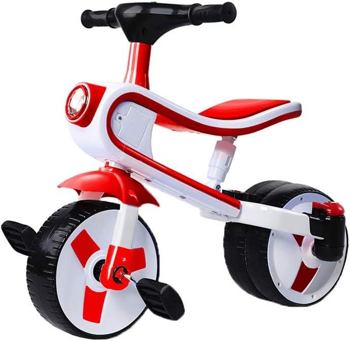 LRHD Triciclo de dos años de edad infantil, 2-en-1 puede andar en triciclo resbaladizo, Niño pequeño triciclo, 3 ruedas de conversión de 2 ruedas de bicicletas for niños pequeños, conveniente for 1-3