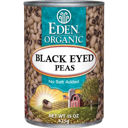 Make Healthy Slow Cooker Hoppin' John with Eden Organic Black Eyed Peas, No Salt Added, 15-Ounce Cans (Pack of 12)