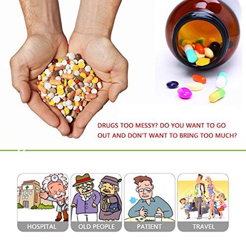 Mini Travel First Aid Kit, Weekly Pill Organizer Pill Box 7 Days Purse for Car Plane Trip by Rachsa (Blue) by Rachsa (Image #4)