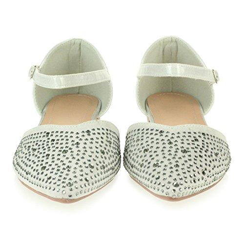 Planas Se Zapatos Diamante Noche oras o Sandalias Plata Comodidad Boda Mujer Casual tama 8BdqwzOqx
