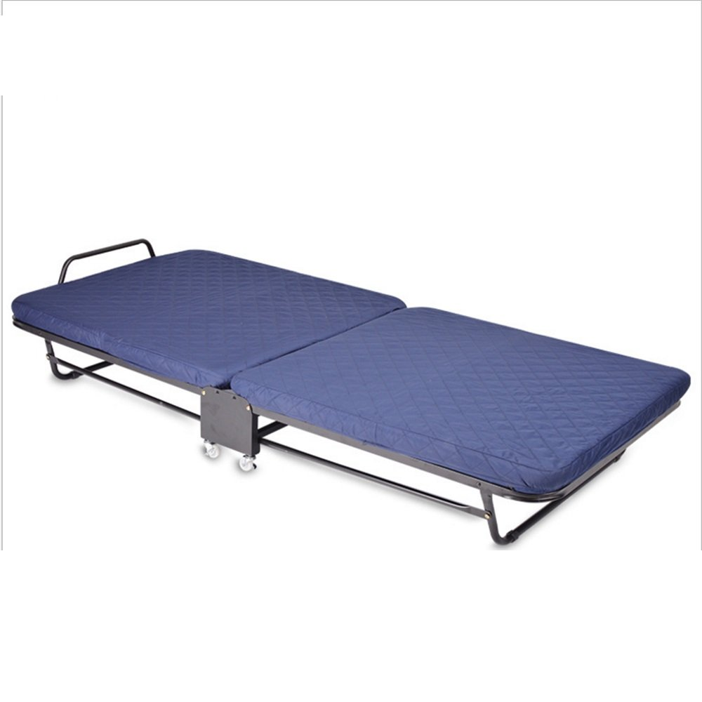 Luqifei Klappbett Klappbett im Freien Büro Siesta-Bett Siesta-Bett und verdicktes Schwamm-Eskorten-Bett Tragbares Klappbett for Verschiedene Zwecke leichte und tragbare Rahmen