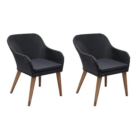 Tidyard- Sillón de jardín 2 Piezas de sillón Acolchado ...