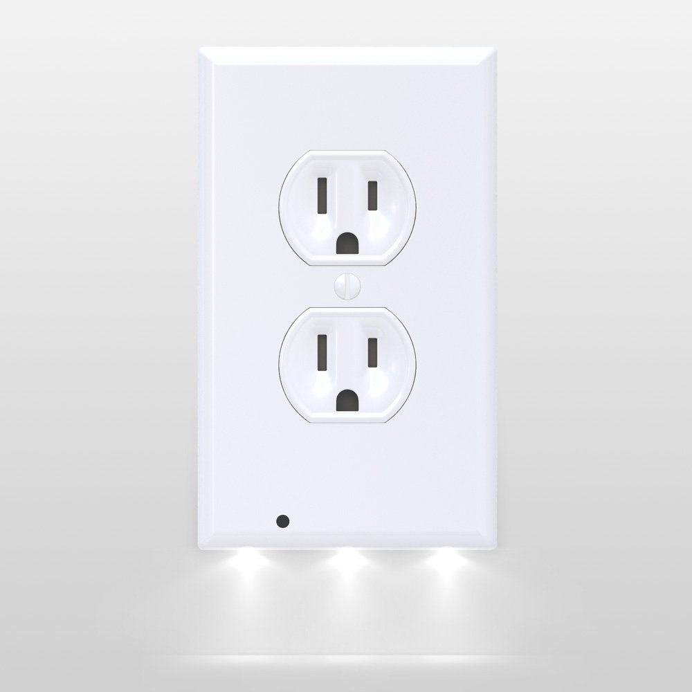 Amazon snappower guidelight outlet coverplate with led amazon snappower guidelight outlet coverplate with led night lights duplex white home kitchen amipublicfo Images