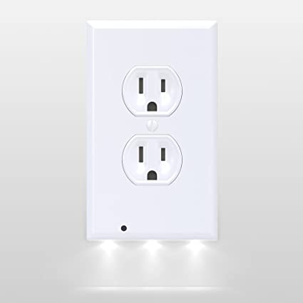 Amazon snappower guidelight outlet coverplate with led snappower guidelight outlet coverplate with led night lights duplex white mozeypictures Gallery