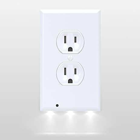 Amazon snappower guidelight outlet coverplate with led snappower guidelight outlet coverplate with led night lights duplex white mozeypictures Image collections