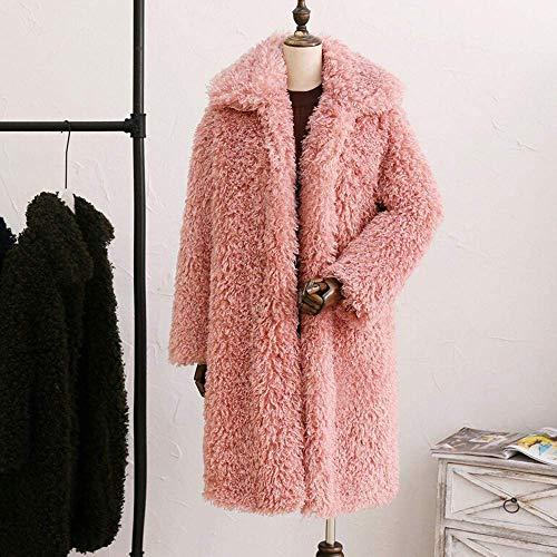 Spesso Zhrui Donna Spessa Inverno Pink1 Da colore Casual Dimensione Parka Capispalla Xxl Moda Cardigan Caldo Cappotto Giacca nRRPBv