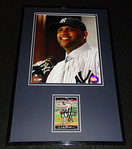 CC Sabathia Signed Picture - Framed 11x17 Display Intro P...