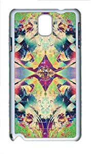 Abstract Multicolor Psychedelic Trippy Russians Samsung Galaxy Note 3 N9000 Hard Shell with White Edges Cover Case by Lilyshouse