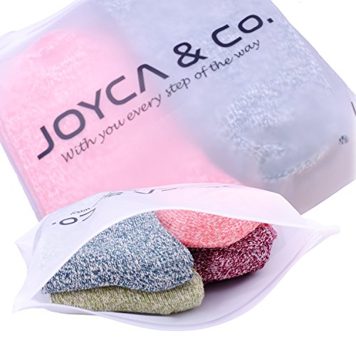 JOYCA & Co. 3-5 Pairs Womens Multicolor Fashion Warm Wool Cotton Thick Winter Crew Socks (Tiny Love) by JOYCA & CO. (Image #4)