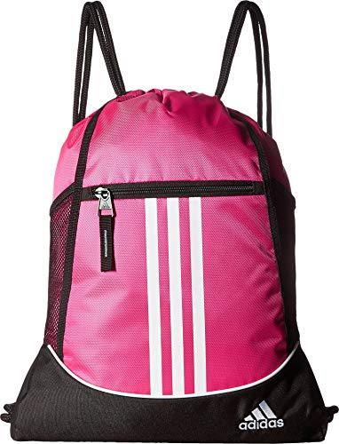 Mesh Use Bag Ball Carry (adidas Alliance II Sackpack, Shock Pink, One Size)