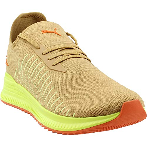 PUMA Mens Avid Evoknit Su Khaki Casual Sneakers, Beige, 9.5 (Best Puma Running Shoes)