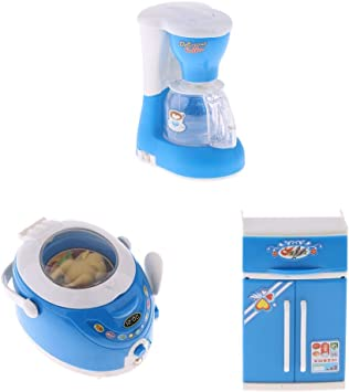 SDENSHI 3X Juguete de Electrodomésticos de Simulación Refrigerador ...