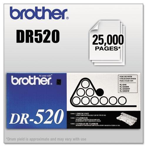 BROTHER DR520 DR520 Drum Unit, 25000 Page-Yield, Black (25000 Dr520 Page Unit Drum)