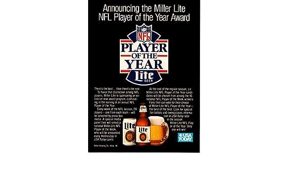 Magazine Print Ad: 1989 Miller Lite Beer,
